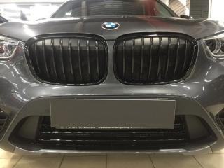 Защитные сетки, Решетки радиатора M Performance черные для BMW X1 F48