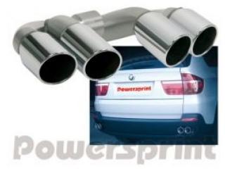 Насадки на глушитель Powersprint для BMW X5 E70