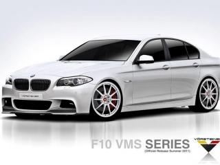 Карбоновая передняя юбка и карбоновый диффузор в стиле Vorsteiner M-tech для BMW 5 серии F10 (копия)
